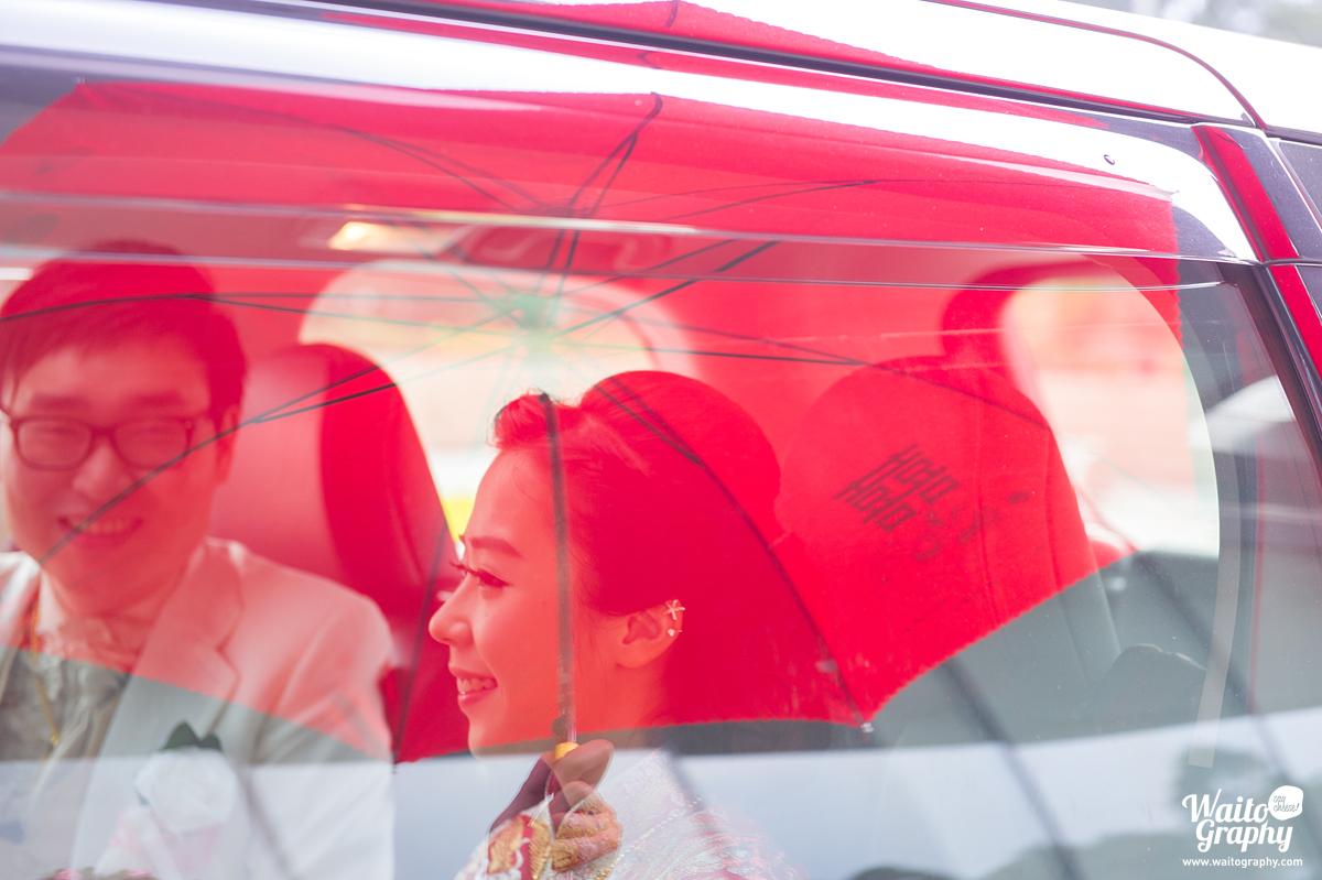 on their way to groom's family in a wedding day