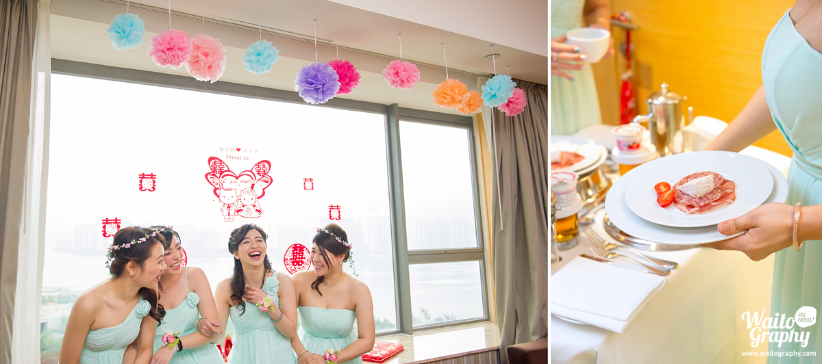 sisters chit chat in a wedding hk photography