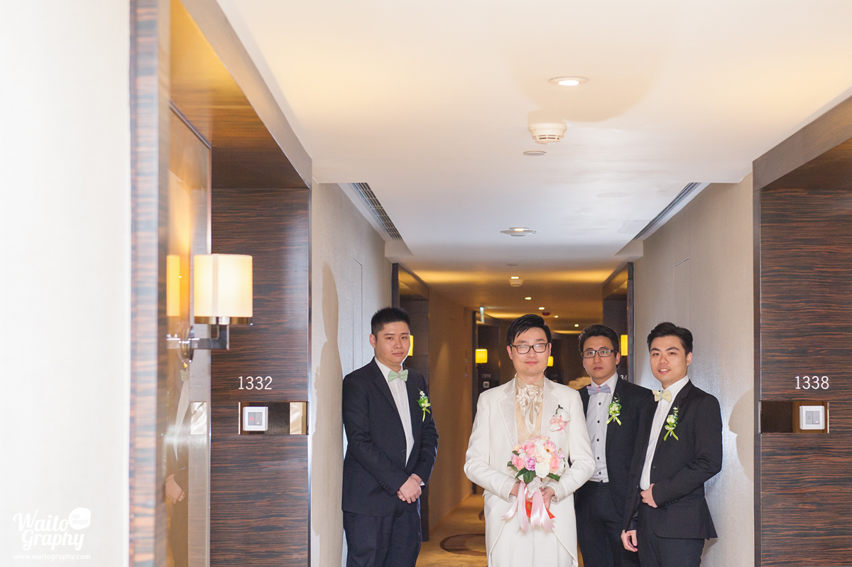 grooms and brothers during a wedding shooting in hk