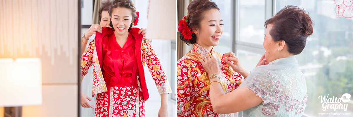 mother blessing in a hk wedding