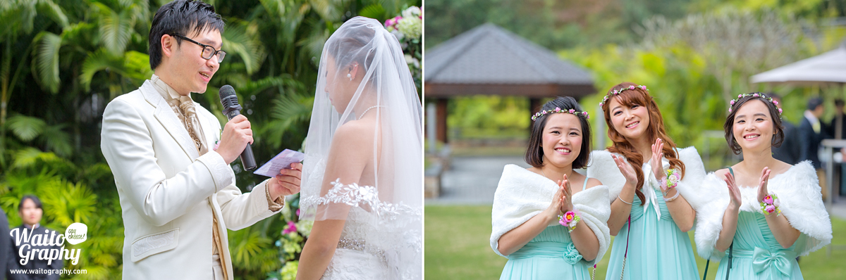 hk wedding ceremony at the lawn of grand hyatt shatin