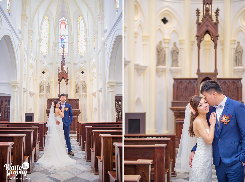 beautiful photo by hk wedding photographer waito at 伯大尼 Bethanie church