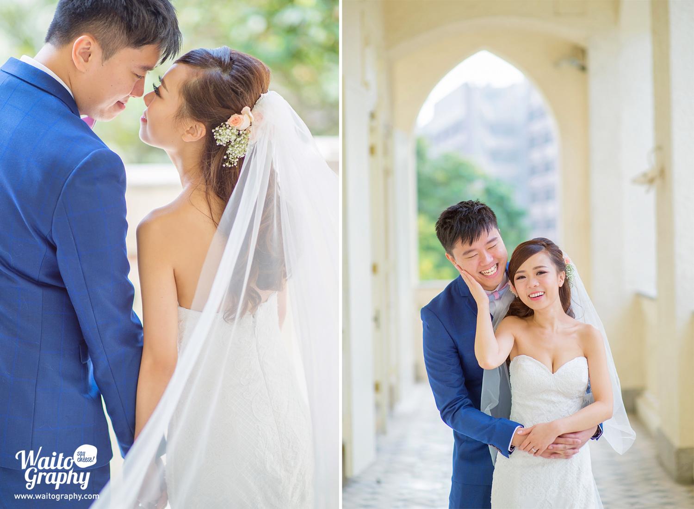 Sweet portrait of hk wedding couples by wedding photographer at 伯大尼