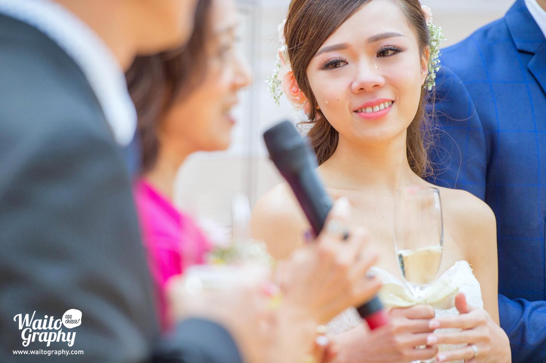 Crying bride of wedding at Hong Kong Bethanie 伯大尼