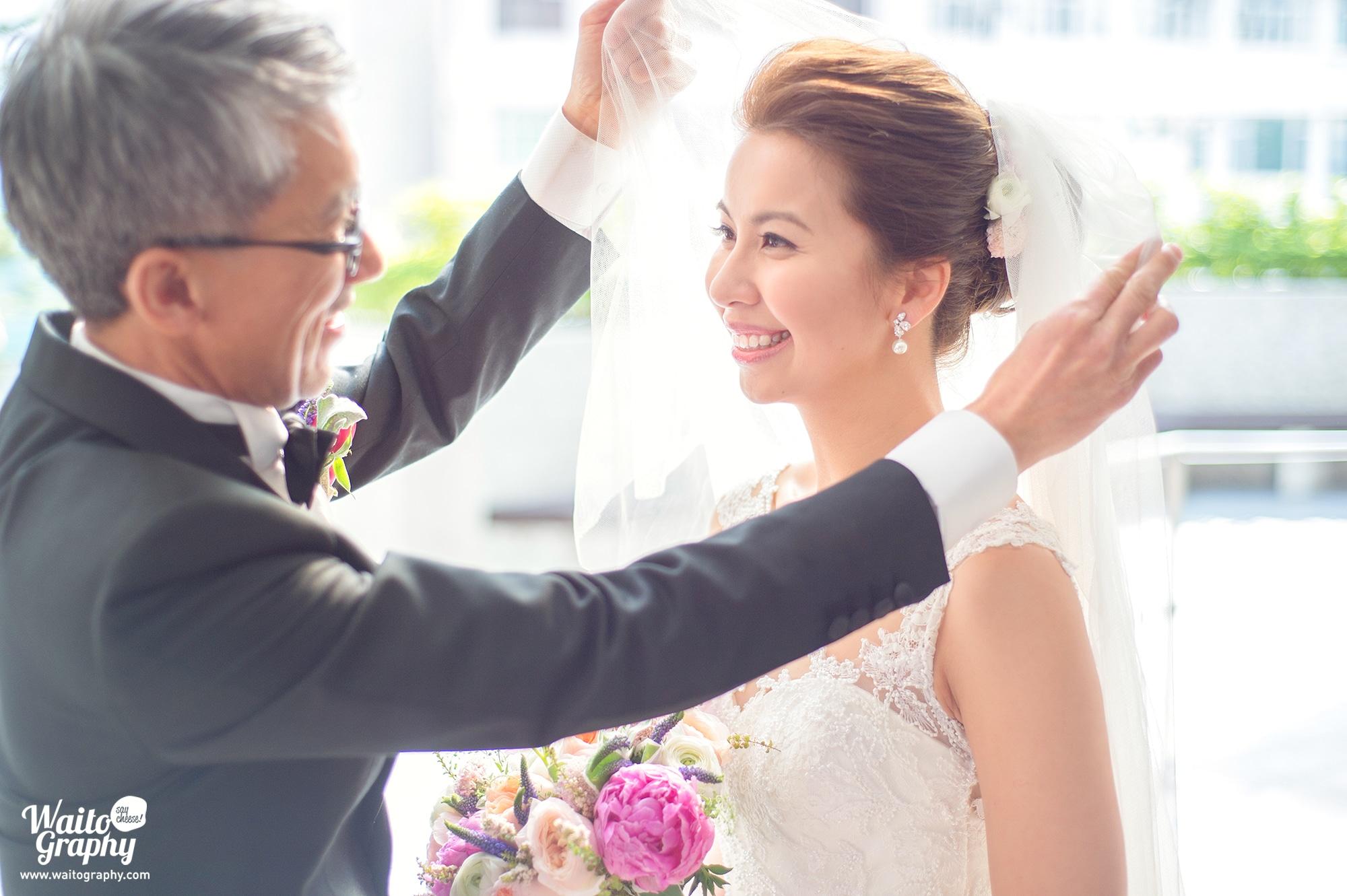 在聖瑪加利大堂舉行婚禮 Janice and Lambert Wedding Day HK at St. Margaret's Church